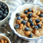 Vanilla Almond Oatmeal w/ Blueberries